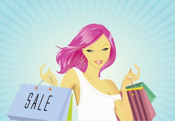 Beautiful girl shopping
