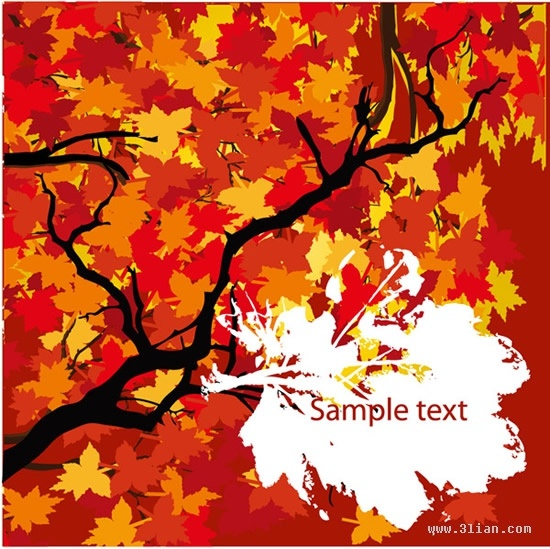 autumn background luxuriant red leaves decor
