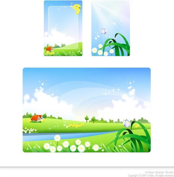 spring background design elements zoom design colorful ornament