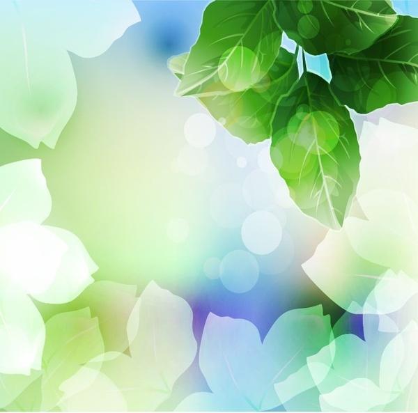 Beautiful Green Leaf Background Vector Illustration