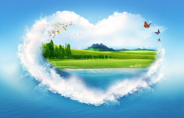 beautiful heart greeting cards hd 03 hd picture