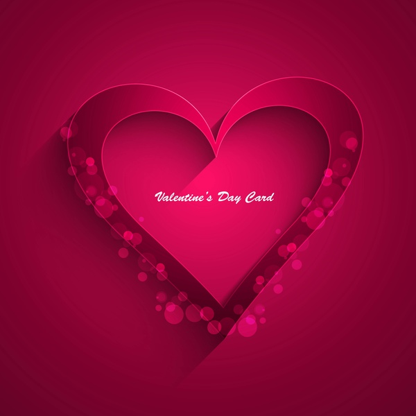 Beautiful Hearts For Happy Valentines Day Card Fantastic Background