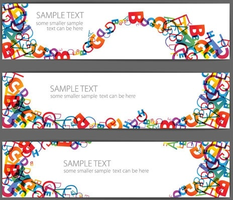 beautiful letter banner vector