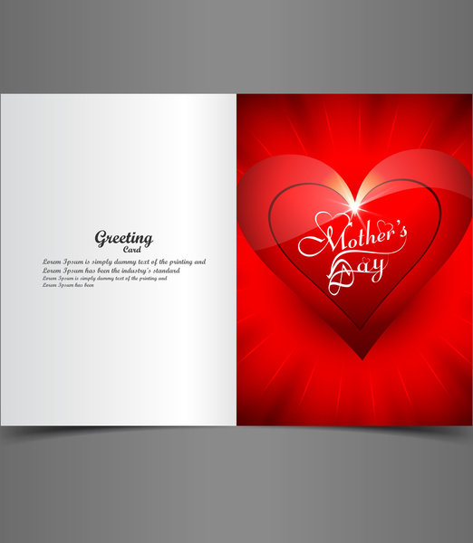 Beautiful mothers day greeting card presentation design Free