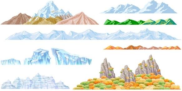 beautiful mountains vector
