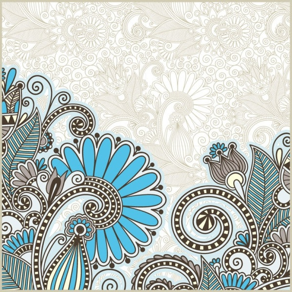 beautiful pattern background 02 vector