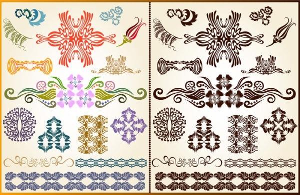 beautiful pattern background 04 vector