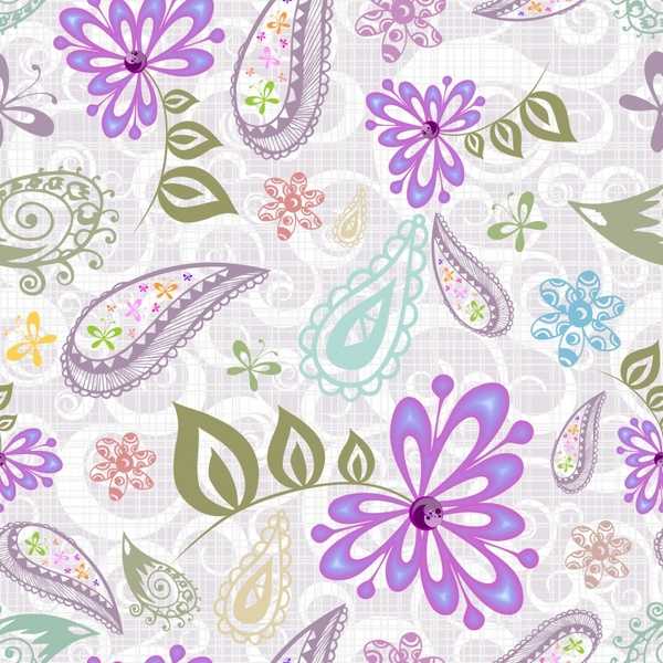 beautiful purple flower pattern background vector free