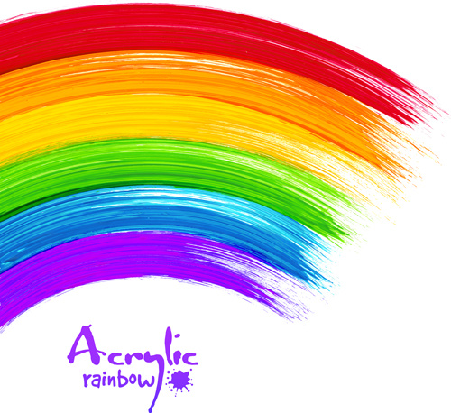 Beautiful rainbow paint design vector free vector in adobe for Beautiful painting designs