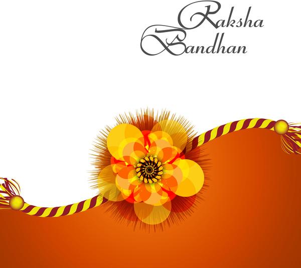 Beautiful raksha bandhan background colorful card design ...