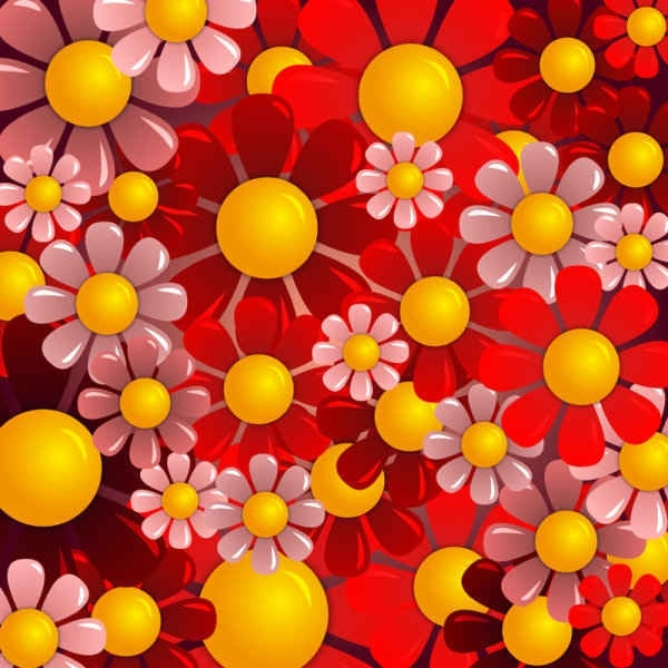 Beautiful red flower background free vector in encapsulated beautiful red flower background mightylinksfo