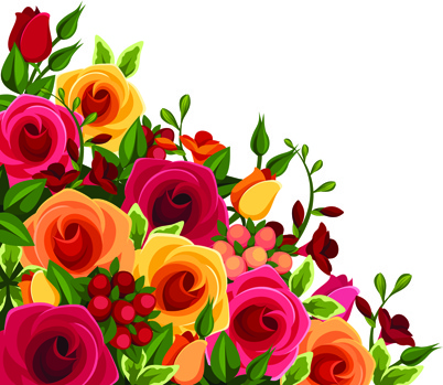 beautiful roses art background vector