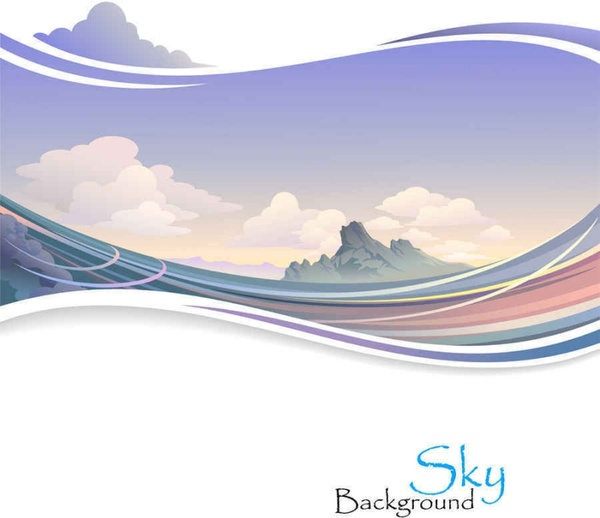 Beautiful scenery vector background0001