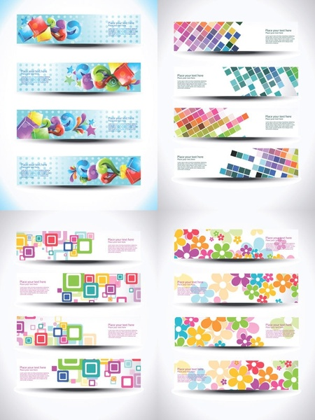 beautiful special effects design banners vector