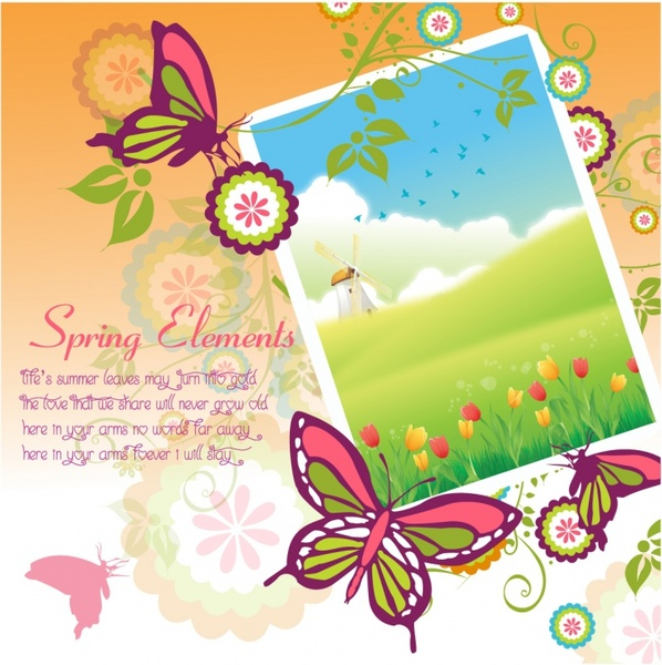 Beautiful Spring picture frame