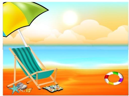Beautiful summer beach background Free vector in ... (513 x 384 Pixel)