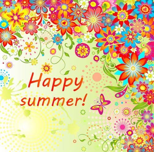 beautiful summer flower background