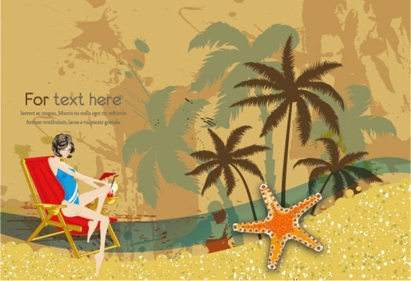 beautiful surfing postcards 02 vector