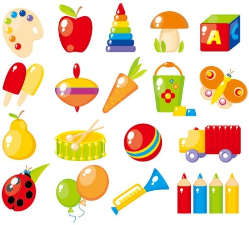beautiful toys for children 02 vector