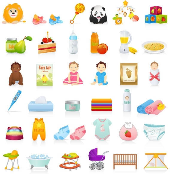 beautiful toys for children 04 vector