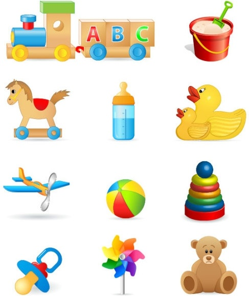 beautiful toys for children 05 vector