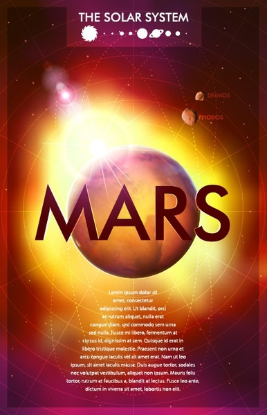 beautiful universe planets posters 09 vector