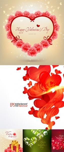 beautiful valentine day vector