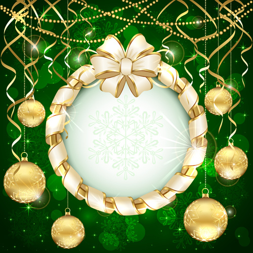 Beautiful xmas baubles shiny background vector Free vector in ...