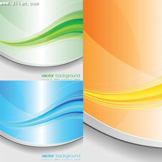 abstract background templates colored dynamic curves decor