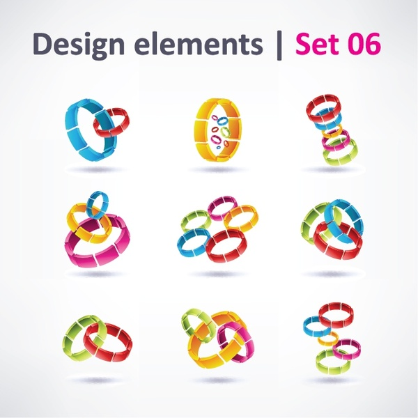 beautifully colored threedimensional logo vector