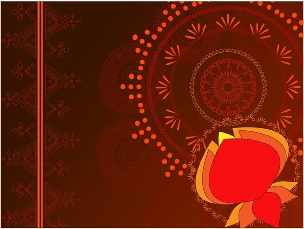 decorative background dark red traditional decor