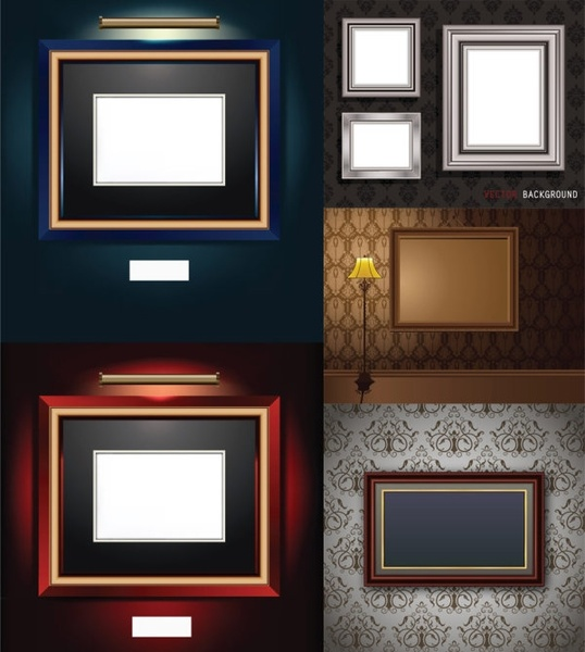 beautifully realistic frame vector