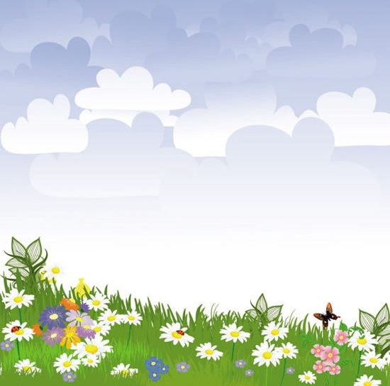 scenic background colorful blooming meadow decor