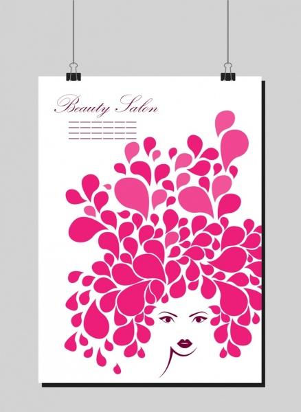beauty salon background flower woman portrait decoration