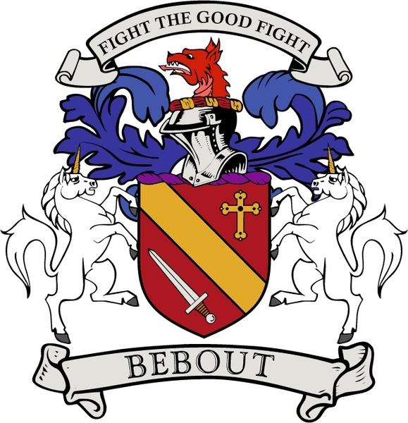 Bebout Family Crest Free Vector In Encapsulated Postscript Eps