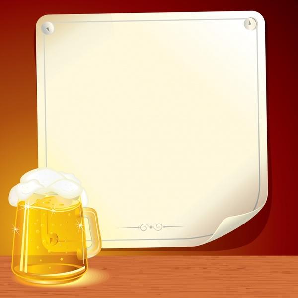 beer background shiny colored modern design foam glass