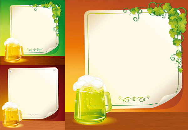 beer and background paper vector