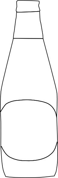 Beer Bottle Outline Clip Art Free Vector In Open Office