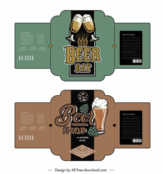 beer label templates elegant classic decor