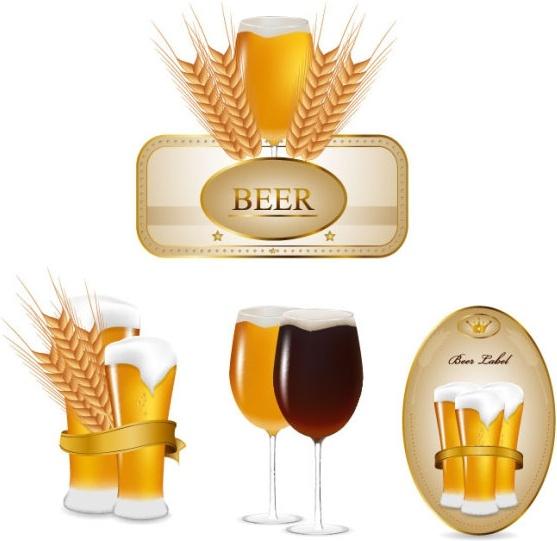beer labels 02 vector