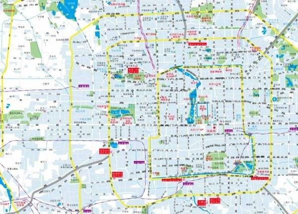 beijing city map vector