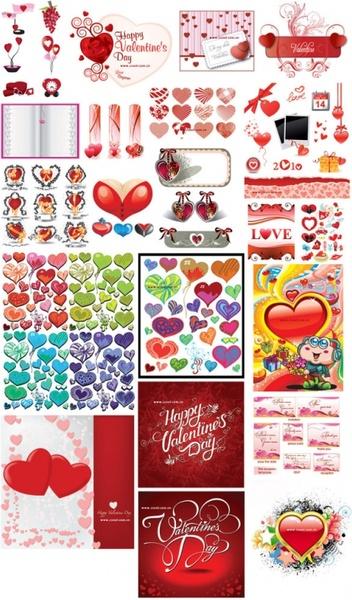 belated valentine day 2010 album vector