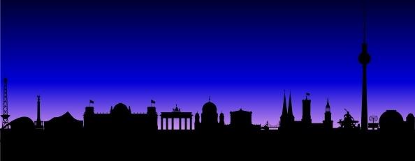 Berlin Germany Skyline clip art