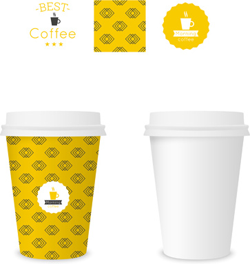 Cup Template | Best Coffee Paper Cup Template Vector Free Vector In Encapsulated