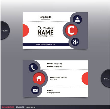 Best company business cards vector design free vector in best company business cards vector design colourmoves