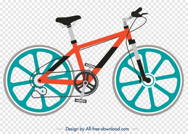 bicycle advertising background bright colorful modern design