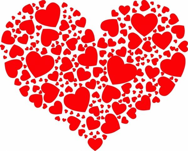 big heart shape free vector in adobe illustrator ai ai