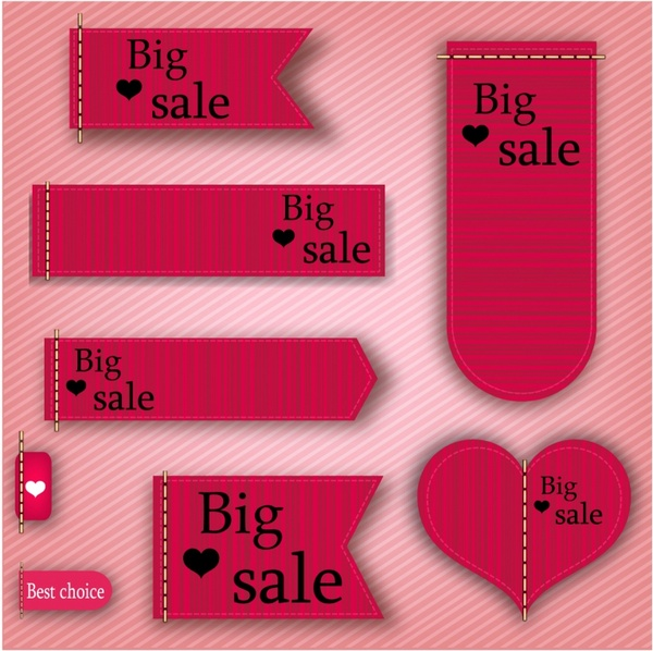 Big sale label and tags