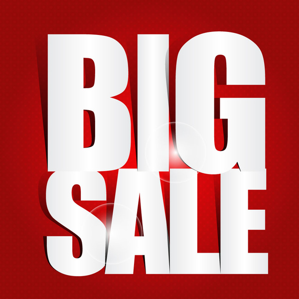 Big sale poster with cut out letters Free vector in Adobe