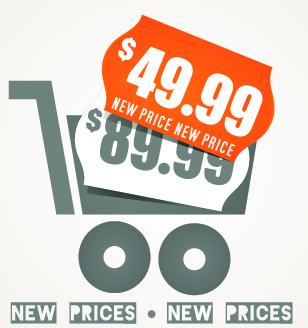 big sale price tag creative vector